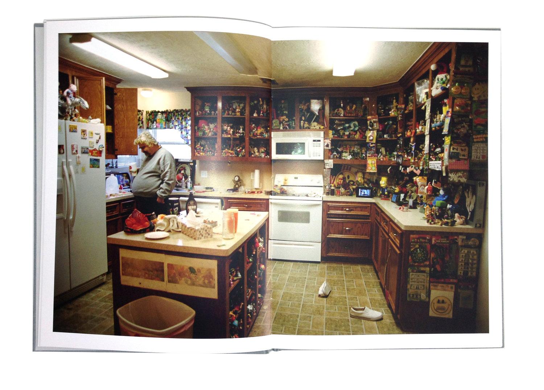 Daniel Johnston: Here - Book Spread, Daniel in his kitchen at home
